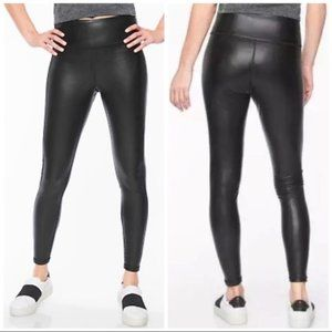 Athleta All Over Gleam Faux Leather Leggings S EUC